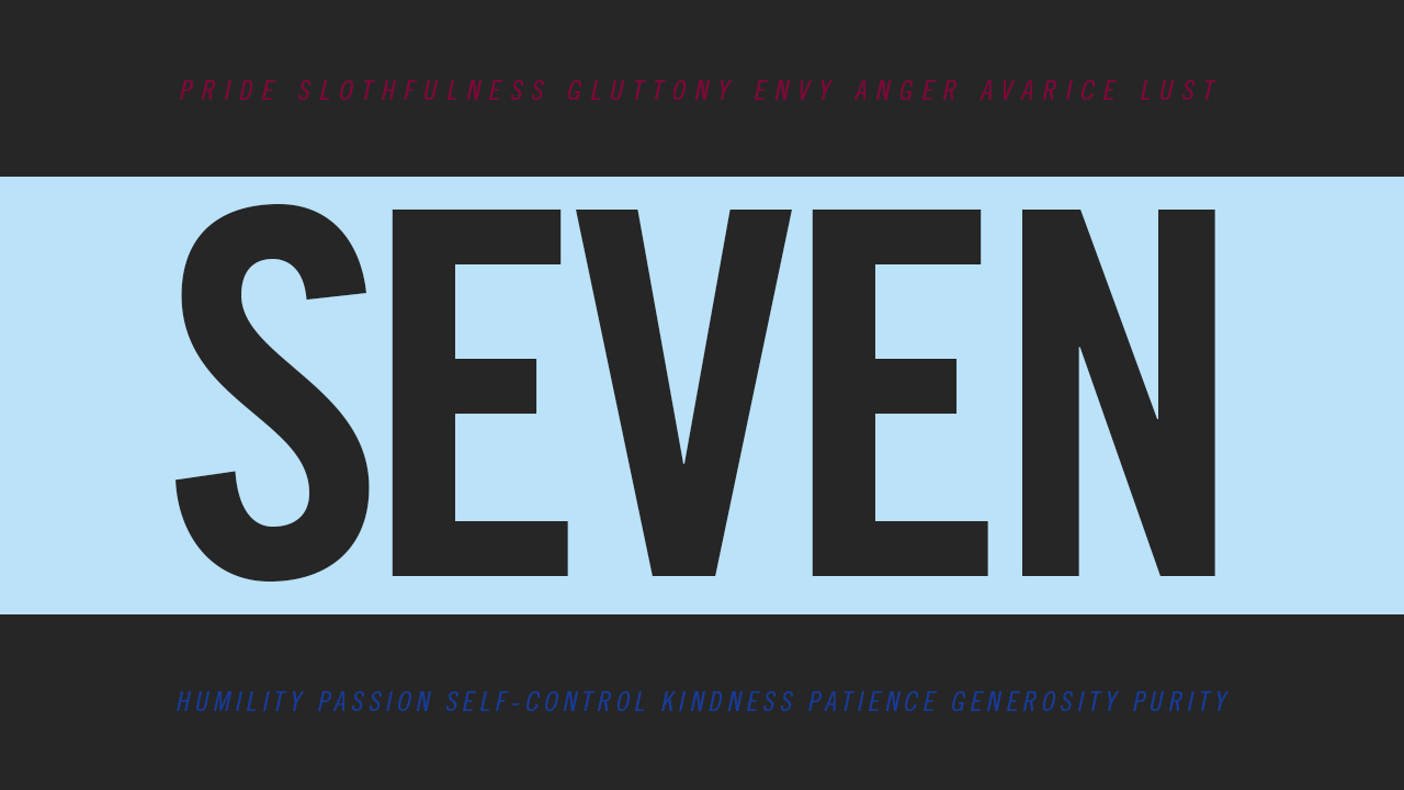The 'Seven' sermon series theme at Glad Tidings Church (Sudbury)
