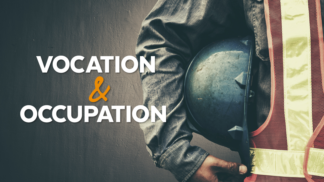 Vocation and Occupation